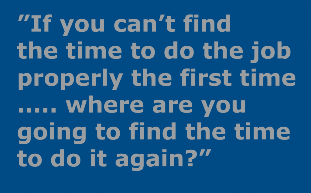 If you can't find the time …