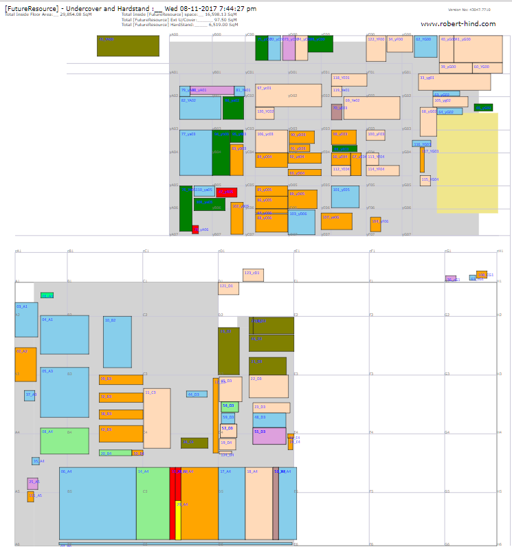 Auto-generated Storage floorplan